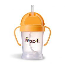 Gobelet avec paille  Sans BPA ni phtalate Orange - 180 ml