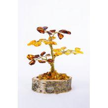 Arbre en ambre sur socle bois
