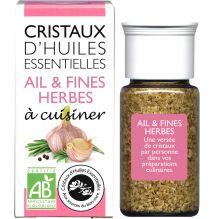 Cristaux d'huiles essentielles à cuisiner - ail et fines herbes - 10 g