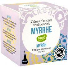 Cônes d'encens traditionnels Myrrhe 100% naturel