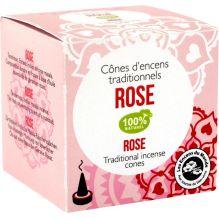 Cônes d'encens traditionnels Rose 100% naturel
