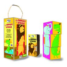 Cubes et livre Les animaux d'Afrique - à partir de 2 ans *