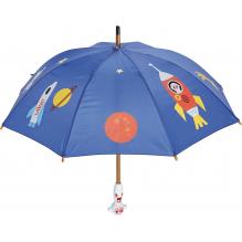 Parapluie cosmique avec des fusées et planètes - à partir de 3 ans