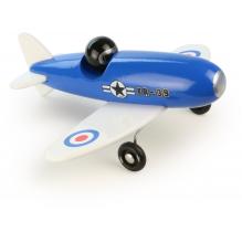 Avion en bois bleu - à partir de 3 ans *