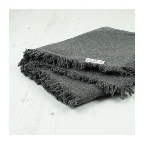 Couverture / plaid en laine recyclée Gris