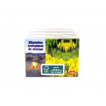 Allumettes écologiquesen bous FSC  - 4 boîtes de 100 allumettes