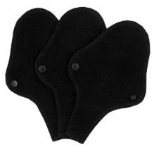 Protège-slips et strings lavables en coton BIO - Noir - pack de 3