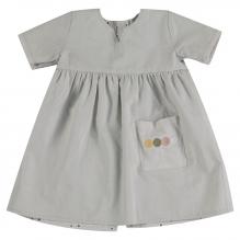 Robe réversible courtes manches à pois en coton BIO