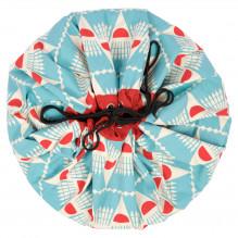Sac de rangement et tapis de jeu (2 en 1) Play&Go - Badminton designer collection