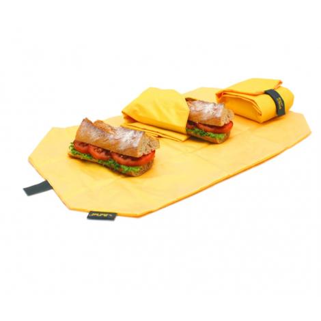 Porte sandwich lavable et réutilisable Boc'n'Roll - Square Yellow