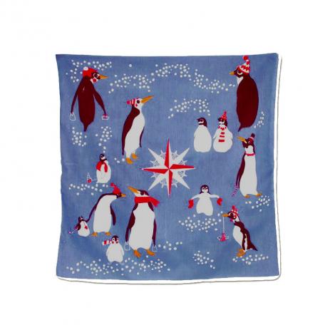 Foulard pingouin en coton Bio