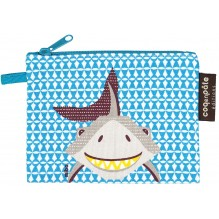 """Mini trousse - porte monnaie en coton BIO """"Requin"""""""