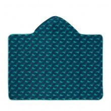 Serviette de bain à capuche anti-UV - Baleine bleue