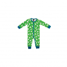 Pyjama combi en coton bio Forest Avions