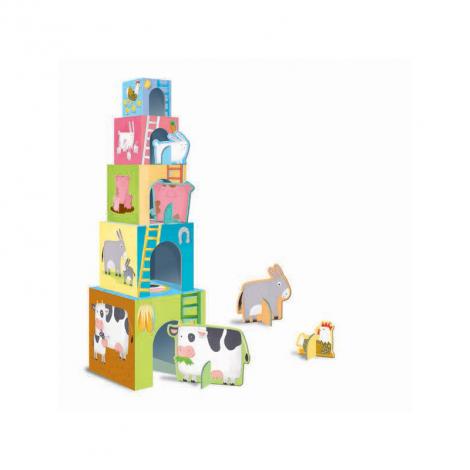 Les cubes des animaux - les bébés animaux de la ferme + livret - à partir de 2 ans