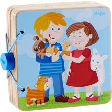 Livre en bois pour bébé Bébés animaux