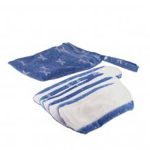 Kit de départ - serviettes hygiéniques lavables  - Bleu libellules