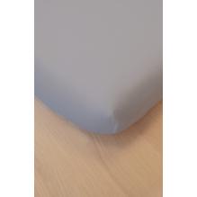 Drap Housse en Coton Bio - Pour lit double - gris