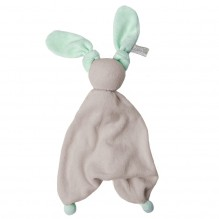 Doudou Floppy éponge - Silver grey/fresh mint