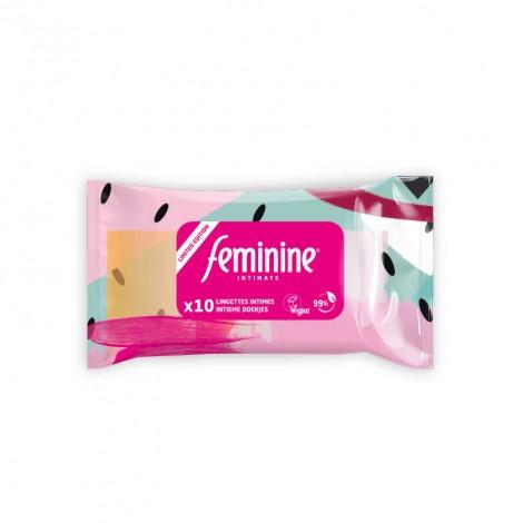 Lingettes féminines - Edition limitée - 10 unités