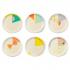 Set de 6 assiettes graphiques en bambou