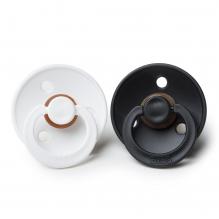 Set de 2 tétines BIBS black & white en caoutchouc naturel