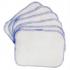 Débarbouillettes lavables bifaces Lot de 6