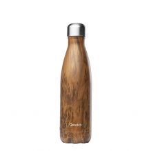 Bouteille nomade isotherme - 500 ml - Bois brun