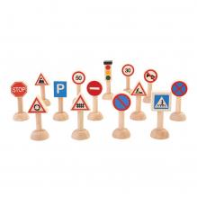 Set de signalisation routière en bois - à partir de 3 ans