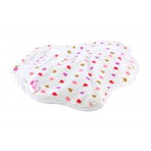 Kit de départ - serviettes hygiéniques lavables coeurs  - Pochette gris arbres