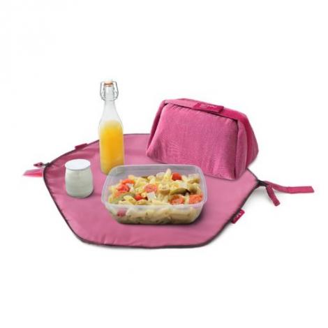 Pochette 2 en 1 - lunch bag et set de table - Eco Rose