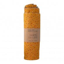 Essuie-tout et serviette de table - 23 x 24 cm - lot de 6 - Moutarde