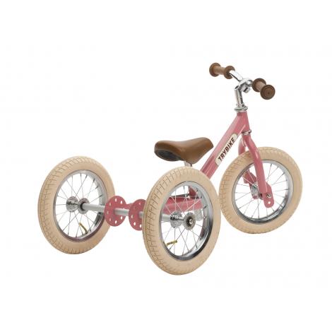 Trybike 2-en-1 vintage rose - tricycle