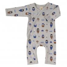 Pyjama kimono en coton BIO - Pirates gris
