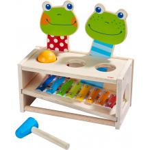 Banc à marteler musical - Concert de grenouilles - à partir de 2 ans