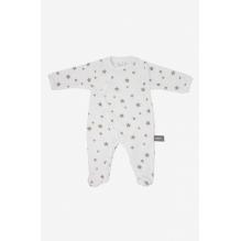 Pyjama velours en coton BIO - Etoiles beige taupes