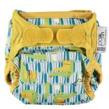 Culotte de protection pour couches lavables - Taille unique velcros - Crocodiles