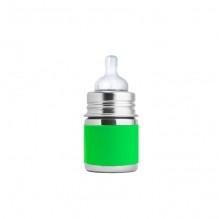 Biberon évolutif en inox - 150 ml - Tétine en silicone - Vert