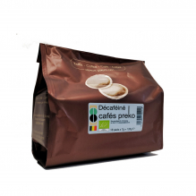 Café BIO -  pads décaféiné - 18 pads