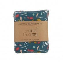 Lingettes démaquillantes - 8 x 10 cm - lot de 5 - Bleu canard