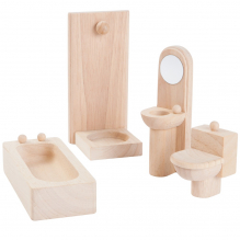 Meubles en bois Classic pour maisons de poupées - Salle de bain - à partir de 3 ans