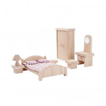 Chambre parentale bois maison de poupée - à partir de 3 ans