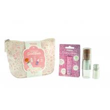 Trousse scintillante rose - maquillage naturel et ludique