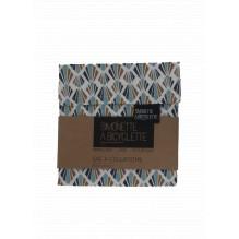 Pochette en coton à collations - 14 x 14 cm - Coquillages
