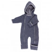 Combinaison intéfrale en polaire de laine pour bébé - Anthracite