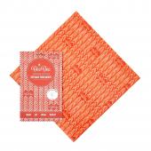 Emballage alimentaire à la cire d'abeille - Large - Chevrons rouges