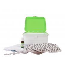 Kit complet - serviettes hygiéniques lavables ultra - Zig zag gris