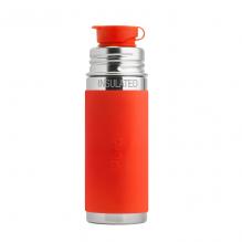 Gourde bouteille en inox - modèle sport - 260 ml - Orange