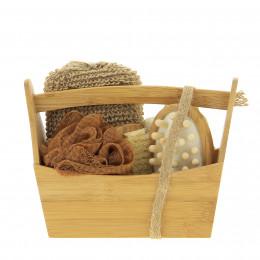 Set cadeau baquet en bois Soins du bain