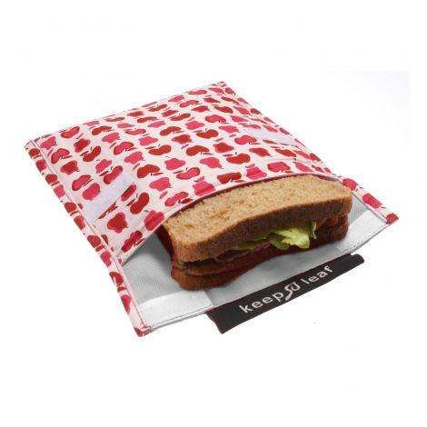 Pochette pour goûters et sandwiches - Coeurs